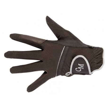 Jezdecké rukavice HKM Soft  Powder